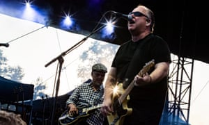 Joey Santiago (left) and Black Francis on stage at the Daydream festival, California, August 2019.