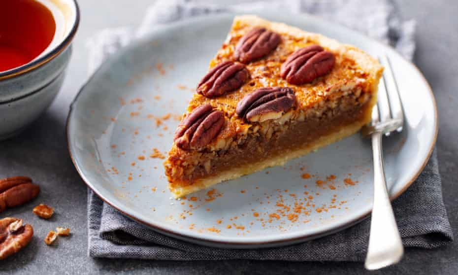 What could be better ... a slice of pecan pie slice with a cup of tea.