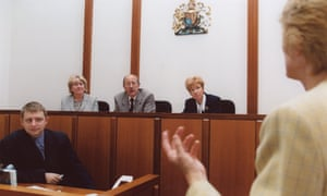 A woman giving evidence in a magistrates court. Alistair MacDonald's comments follow a warning by the lord chief justice that rises in court fees were 'imperilling a core principle of Magna Carta'.