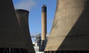 A view of the cooling towers of the Drax coal-fired power station near Selby, northern England. Drax pulled out of a £1bn installation of carbon capture technology to cut emissions, citing the UK government's reduction of subsidies for renewable energy.