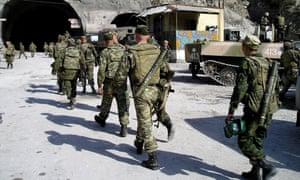 Russian troops in Dagestan in 2005