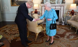 The Queen receives Boris Johnson at Buckingham Palace as he becomes prime minister