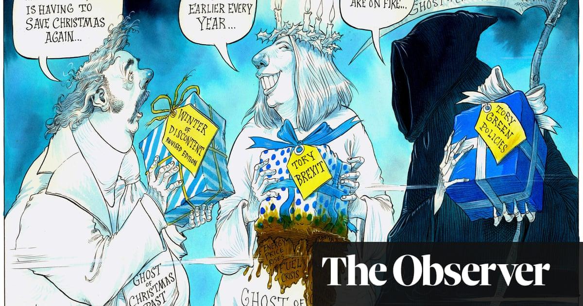 Boris Johnson saves Christmas again – cartoon