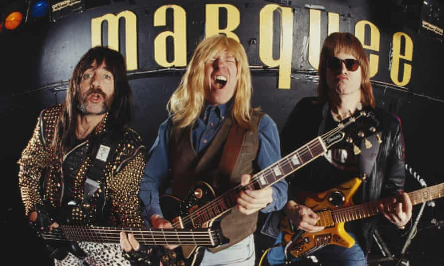 Up to 11 … Spinal Tap with Guest on right