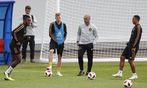 Kevin De Bruyne in training.