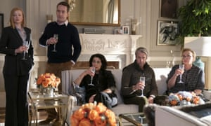 From left, Sarah Snook, Matthew Macfadyen, Hiam Abbass, Alan Ruck, and J Smith-Cameron in Succession, thought to be based in part on the Murdochs.