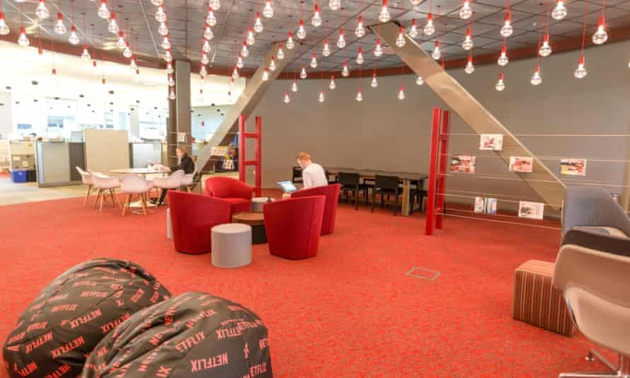 Inside the Netflix office.