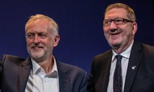 Jeremy Corbyn with Len McCluskey