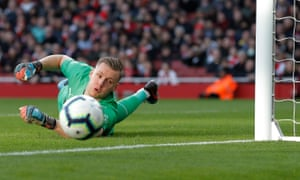 Bernd Leno made some crucial saves against Manchester United to aid Arsenal's hopes of finishing in the top four.