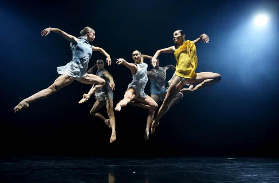 Dancers perform during a media preview of Sydney Dance Company's recent 50th Anniversary triple bill.