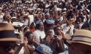 View of participants during the March on Washington for Jobs and Freedom, in 1963.