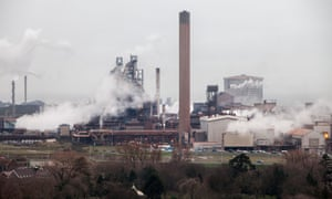 Port Talbot's steelworks, owned by Tata Steel.