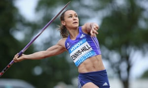 Jessica Ennis hill of Great Britain competes in the javelin.