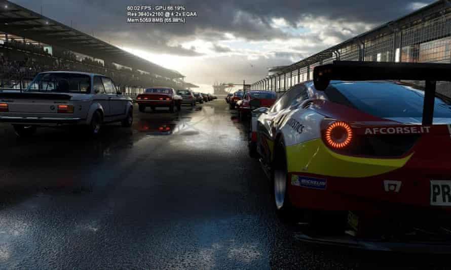 Microsoft has shown ForzaTech running in 60 frames-per-second in 4K on Scorpio