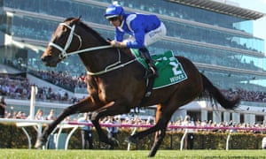 Winx and Hugh Bowman land the Turnbull Stakes at Flemington on October 6.