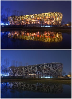The National Stadium, known as the Bird's Nest, in Beijing, China