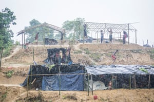 Rohingya refugees in Cox's Bazar.