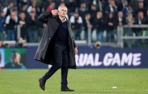 José Mourinho enjoys the moment.