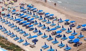A beach in Benidorm, Spain.
