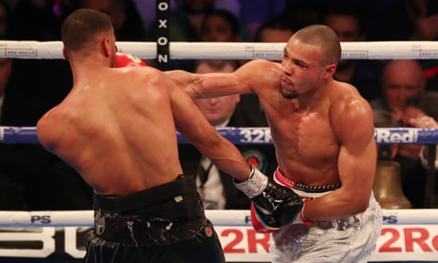 Chris Eubank Jr on the attack in his victory over James DeGale.