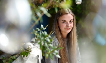 Freya Saddler in garden