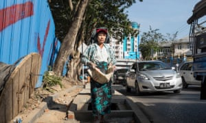Working in central Yangon.