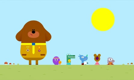 Duggee and co in their quest for a badge.