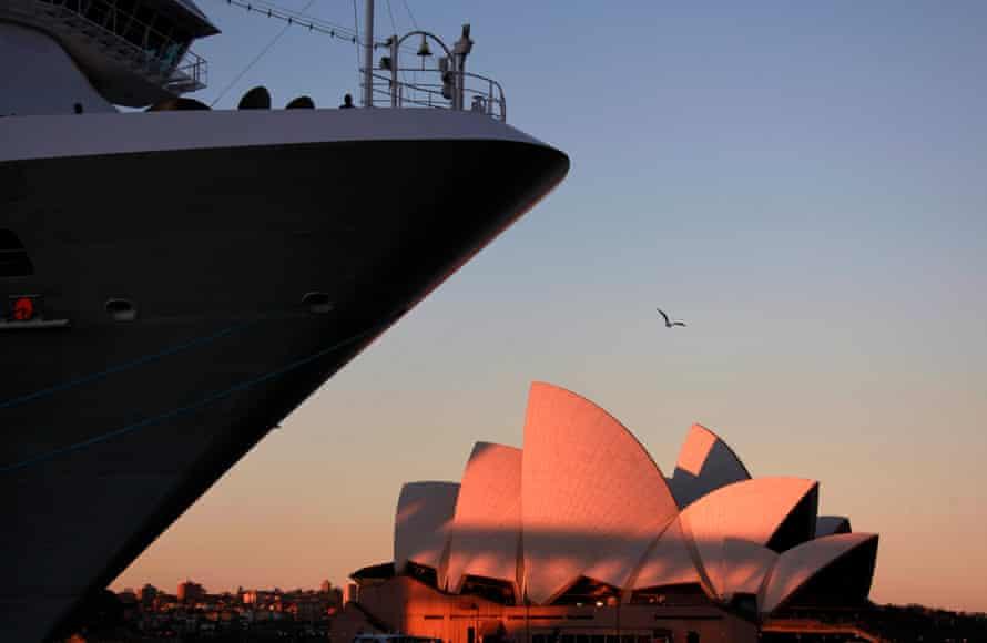 The Carnival Spirit cruise ship in Sydney.