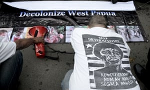 West Papuan independence demonstrators