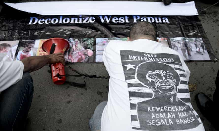 West Papuan pro-independence demonstrators