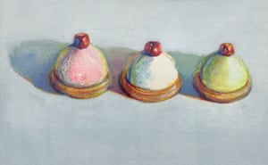 'Benign delight': Cherry Topped Desserts, 1986 by Wayne Thiebaud.
