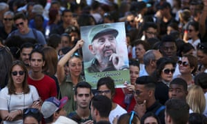 Havana University students mourn Castro