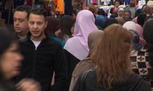 Salah Abdeslam, captured on CCTV in Molenbeek market a year before the Paris attacks.