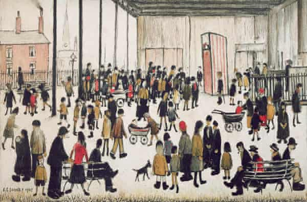 Punch and Judy by LS Lowry.