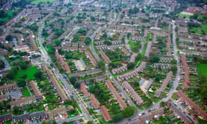 An aerial view of Stevenage. Emergency crews were called to the Woodlands View care home at 4:30pm on Saturday.