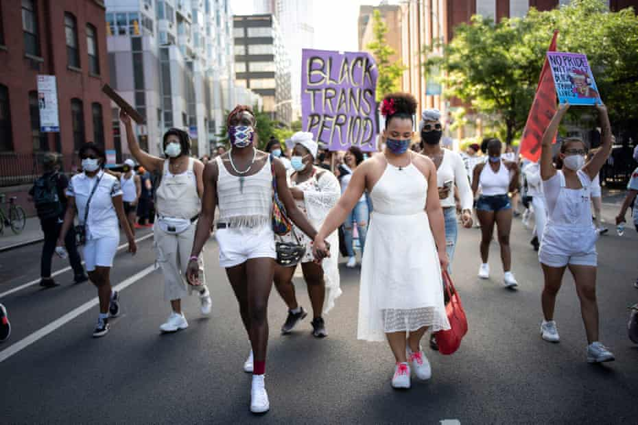 An estimated 15,000 supporters of Black Trans Lives marched from a rally at the Brooklyn Museum to Fort Greene Park in Brooklyn, demanding justice for murdered members of their community