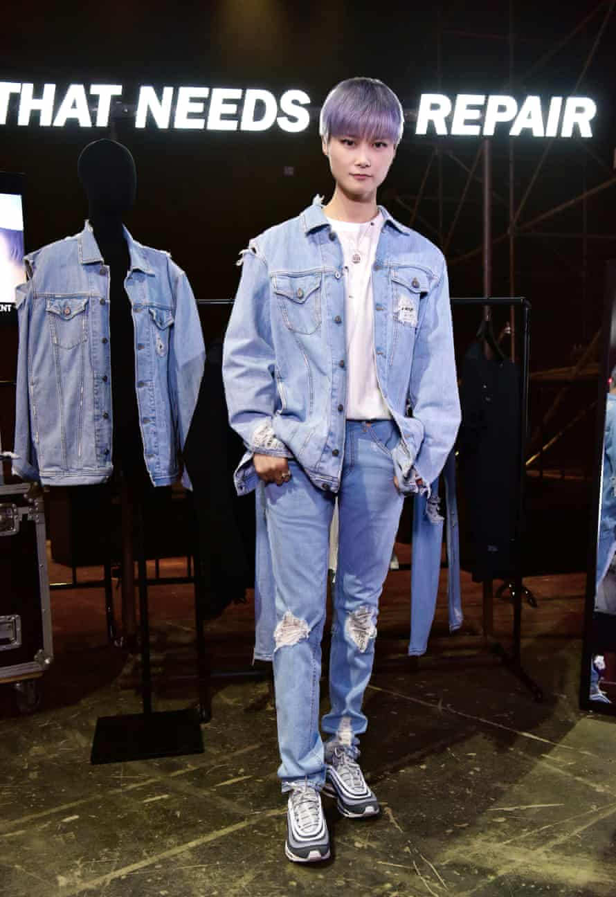 Chris Lee at the launch of her Diesel capsule collection.