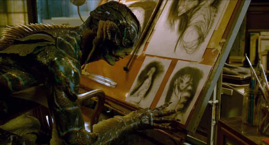 Doug Jones as Amphibian Man in The Shape of Water.