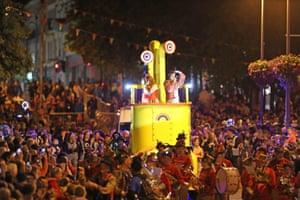 Waterford, Ireland: The Spraoi parade makes its way through the city