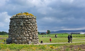 The memorial cairn that marks the Culloden battlefield, where 16 luxury houses are planned.