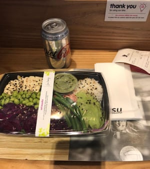 Itsu smoked tofu salad. Go for the minimal techno, stay for the neverending complimentary hoi-sin sauce.