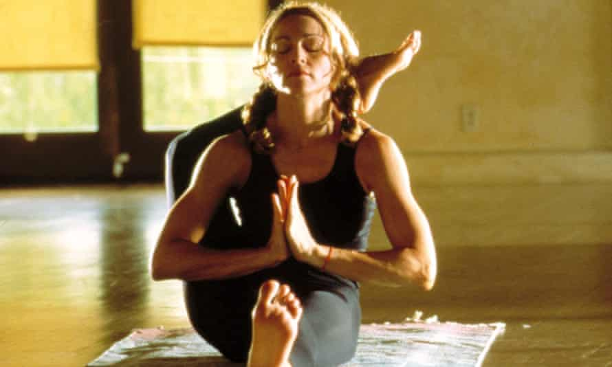 Madonna as a yoga teacher in The Next Best Thing (2000).