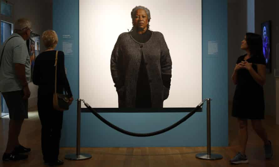 Portrait of Toni Morrison, by Robert McCurdy, in the National Portrait Gallery in Washington, DC.