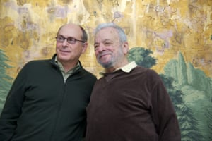 James Lapine and Stephen Sondheim in 2014.