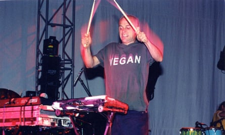 Moby at Rave in Riverside, California, in 1997.