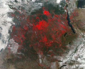 Fires Cover Central Africa
