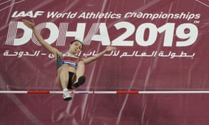 The Russian Mariya Lasitskene competed at the World Athletics Championships in Doha, Qatar this year as a neutral athlete.