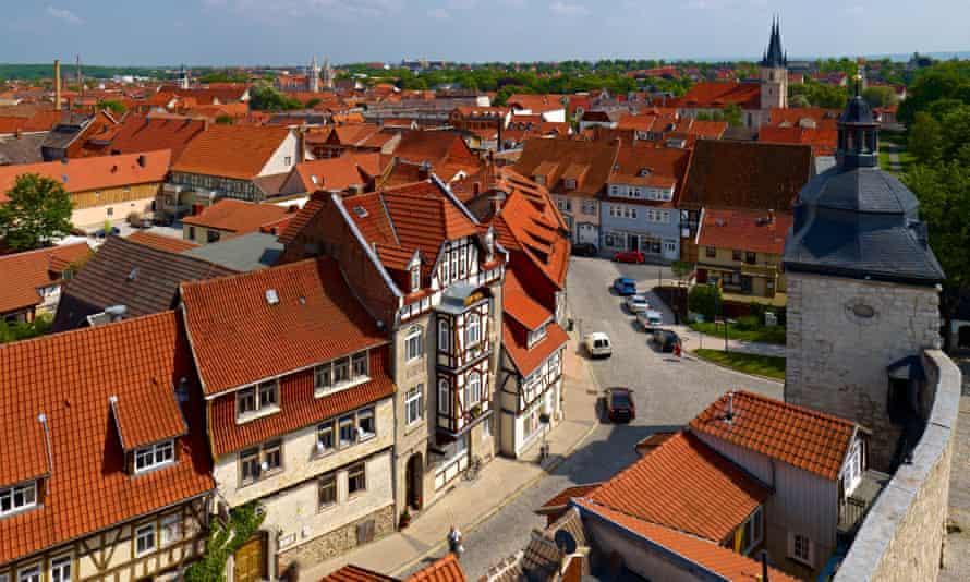 Vue sur la vieille ville de Muhlhausen