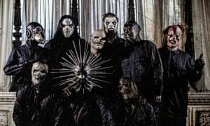 Taylor with his Slipknot bandmates.