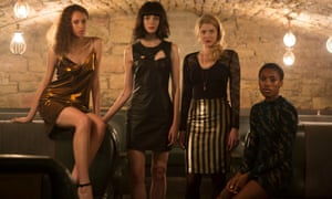 The cast of BBC3's new thriller Clique.